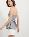 Bow-Front Peplum Top