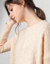 Geometric Knitted Crewneck Sweater