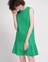 Shift Dress With Layered Hem