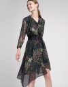 Belted Floral Printed Midi Dress