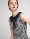 Tweed Dress With Contrast Neckline