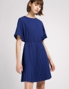 Sun Pleated Shift Dress