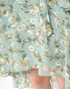 Ruffled Floral Dress With Asymmetric Hem