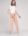 Wide-Leg Pants With Button Front