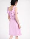 Tied Flouncy Midi Dress
