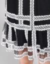 Mesh Shift Dress With Lace Panels