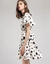 Polka Dotted Flouncy A-Line Dress