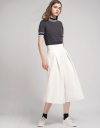 Pleated Wide-Leg Culottes