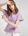 Jacquard Top With Button Front