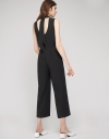 Fitted Jumpsuit With Self-Tie Back