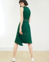 Sleeveless Midi Dress With Button Front