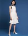 Lace-Trimmed Midi Dress