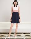 Lace-Trimmed Color Block Dress