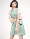 Tweed Dress With Contrast Sleeves