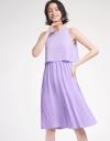 Layered Midi Dress With Pleated Skirt