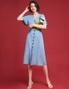 Bell Sleeved Midi Dress
