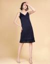 Strappy Midi Dress With Pleated Hem