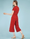 Polka Dotted Wide-Leg Jumpsuit