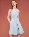 Strappy A-Line Dress With Layered Hem