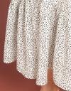 Dotted Midi Dress With Gathered Hem