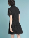 Embroidered Dress With Drawstring Detail