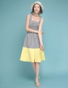 Strappy Striped Color Block Dress