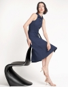 Tied A-Line Midi Dress With Button Front