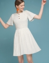 Ribbed Smocked Shift Dress