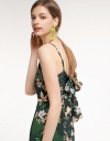 Floral Jumpsuit With Tie Back