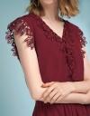 V-Neckline Lace-Trimmed Romper