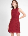 Lace Shift Dress With Waist Panel