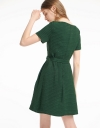 V-Neck Dress With Pleated Detail