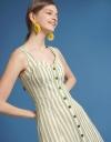 Strappy Striped A-Line Dress