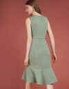 Ribbed Dress With Flouncy Hem