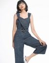 Layered Wide-Leg Jumpsuit With Belt