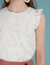 Jacquard Top With Ruffles