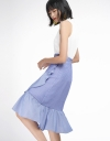 Striped Skirt With Flouncy Hem