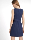 Belted Shift Dress With Pockets