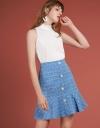 Tweed Skirt With Flouncy Hem