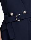 V-Neck Top With Belt