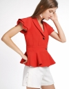 Ribbed Top With Layered Sleeves