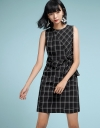 Checked Dress With Tied Front