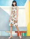 Floral Belted Dress With Pocket Front