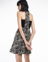 Jacquard Floral Dress With Cut-Out Back