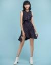 Checked Dress With Asymmetric Hem