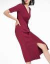 Sleeved Dress With Split Hem