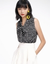 Tied Printed Top With Gathered Detail