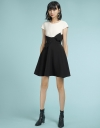 Color Block Dress With Knot Front