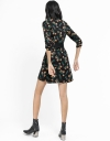 Floral Wrap Dress With Ruffled Detail