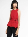 Belted Top With Elasticated Waist